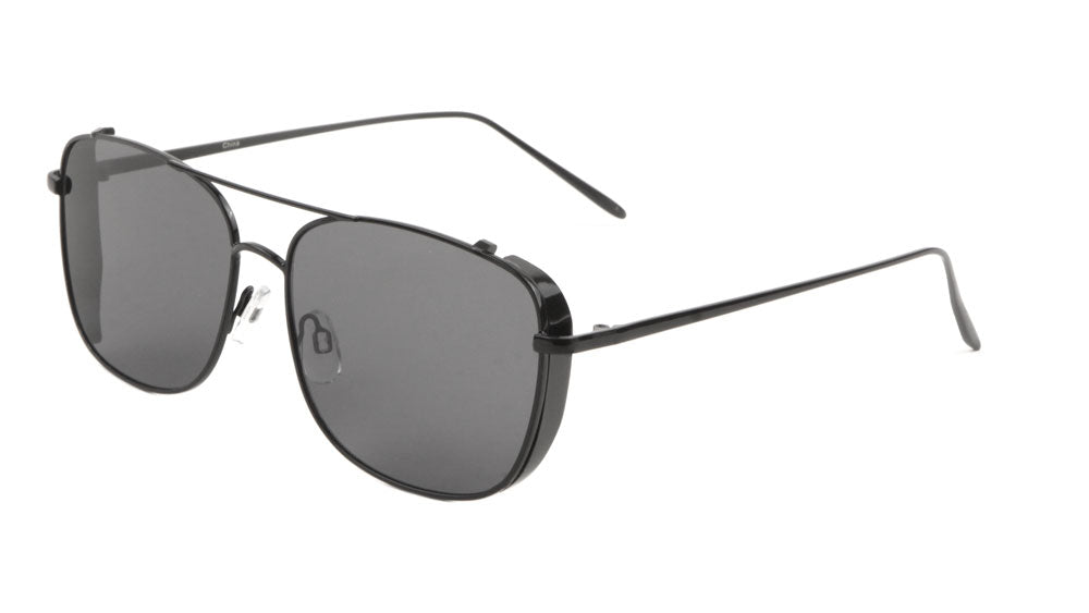 Squared Side Shield Aviators Wholesale Sunglasses