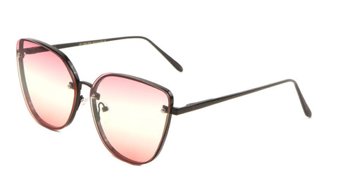 AV-1606-TOC - Rimless Triple Oceanic Color Cat Eye Bulk Sunglasses