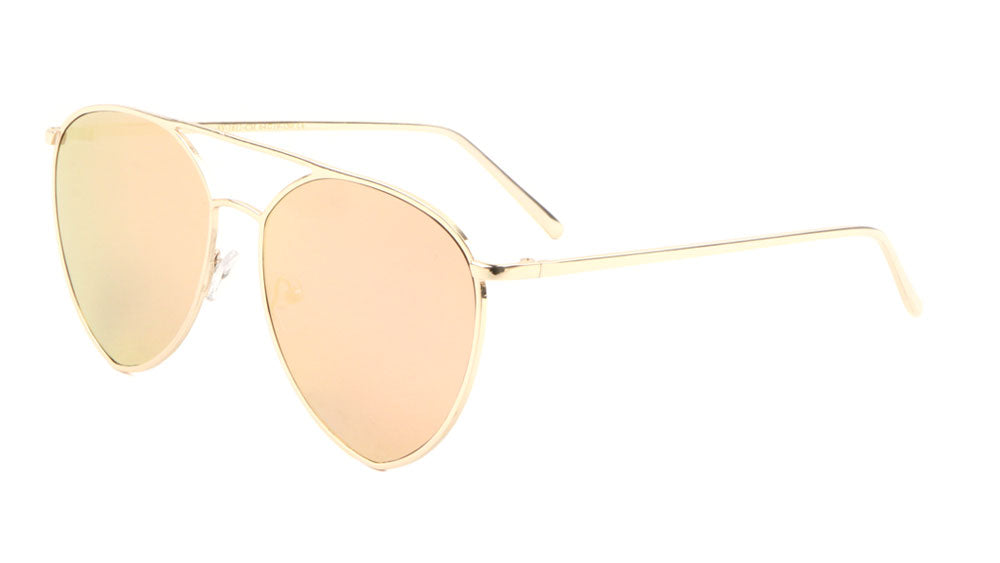 Diamond Aviators Color Mirror Wholesale Sunglasses