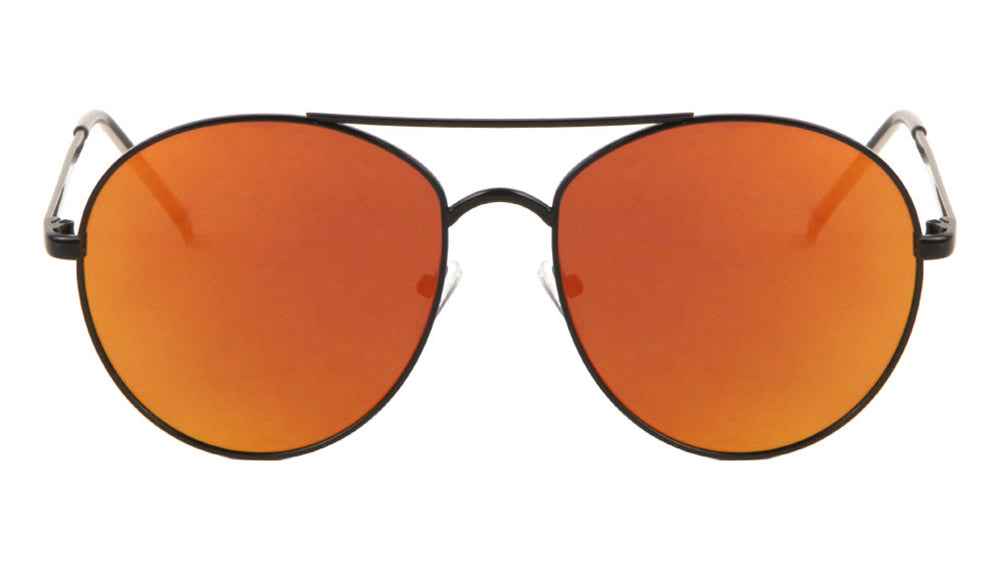 Rounded Color Mirror Aviators Wholesale Sunglasses