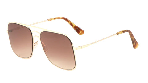 AV-1637 - Squared Aviators Fashion Wholesale Sunglasses