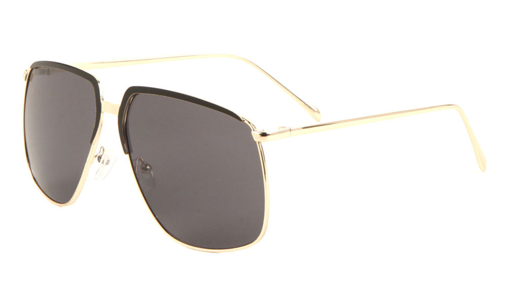 Browline Fashion Aviators Sunglasses Wholesale