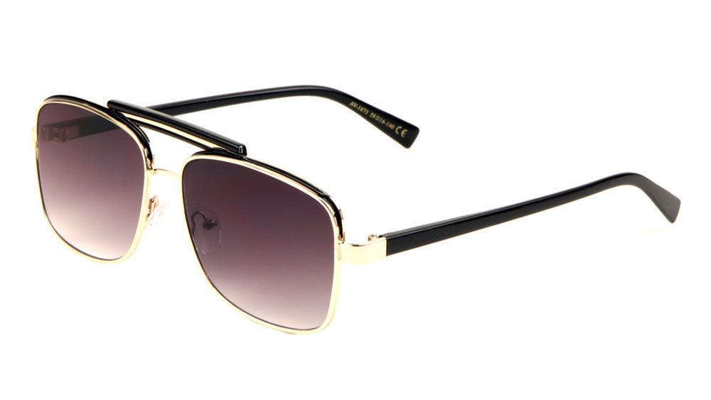 Squared Aviators Top Bar Sunglasses Wholesale