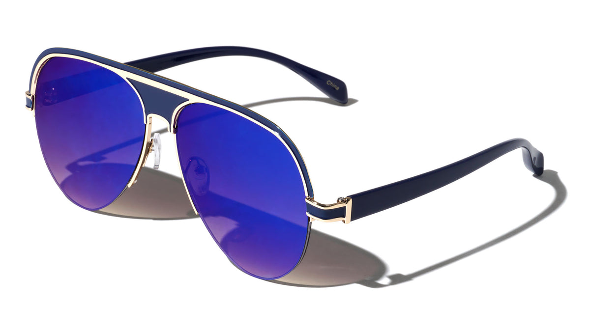 Solid Plate Aviators Wholesale Sunglasses