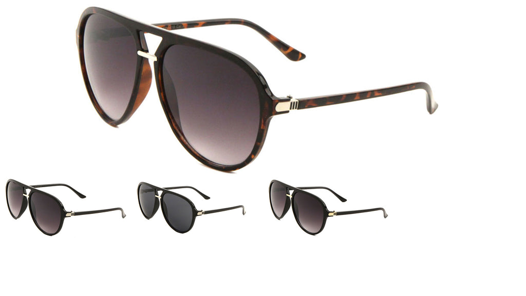 Classic Fashion Metal Nose Aviators Wholesale Sunglasses