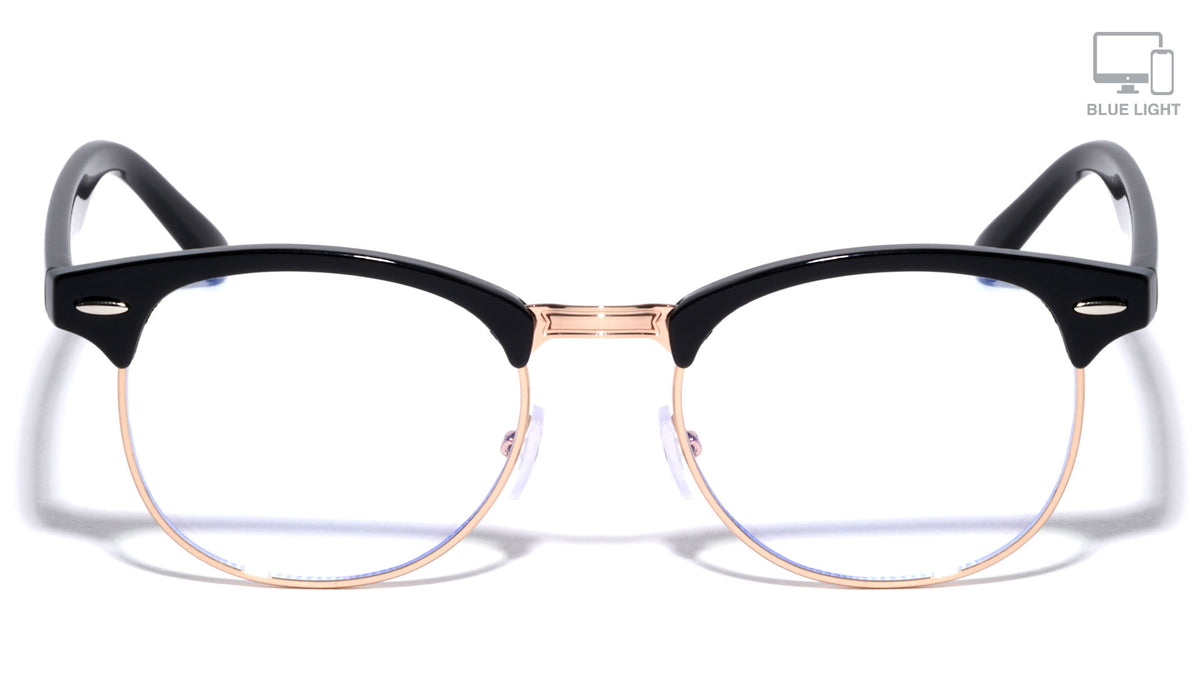 Blue Light Blocking Gold Club Wholesale Glasses