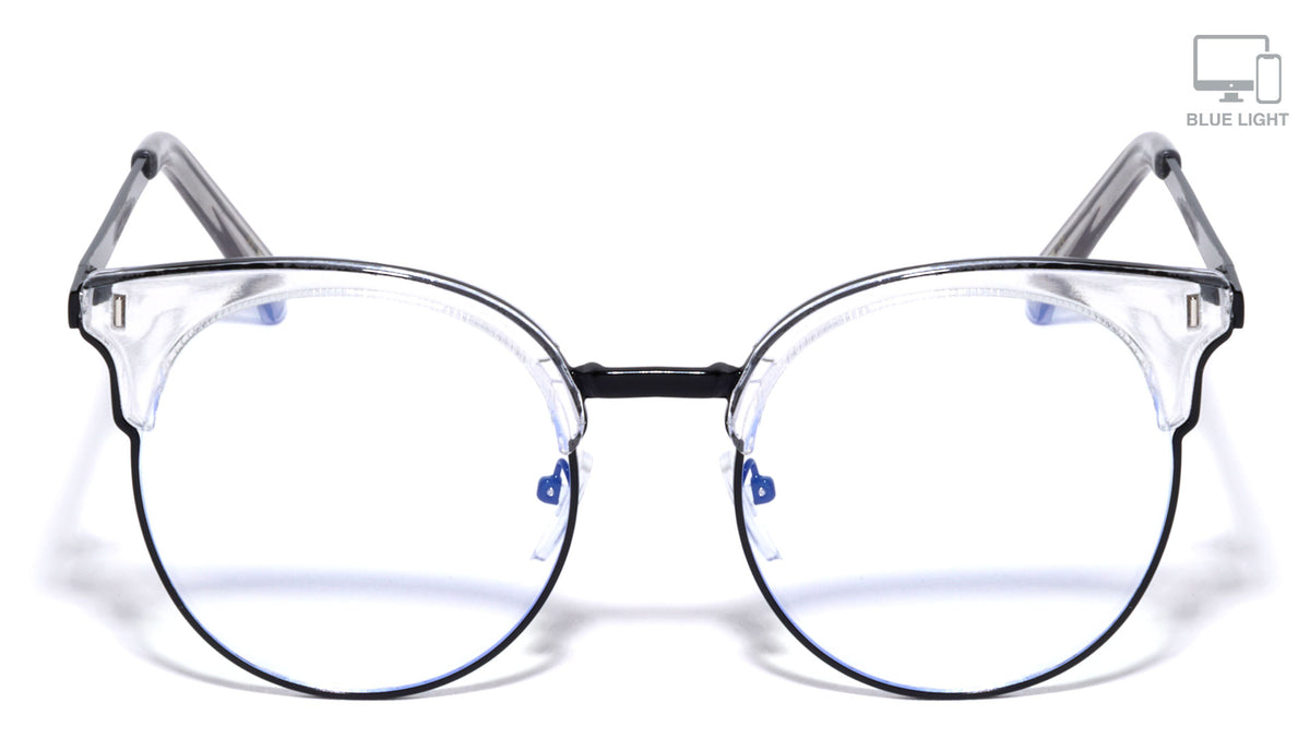 Blue Light Blocking Black Retro Cat Eye Wholesale Glasses