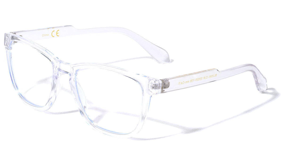 Blue Light Blocking Step Temple Clear Wholesale Eyewear