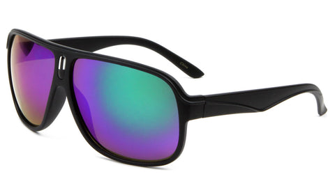 BP0115-CM - Color Mirror Aviators Wholesale Bulk Sunglasses
