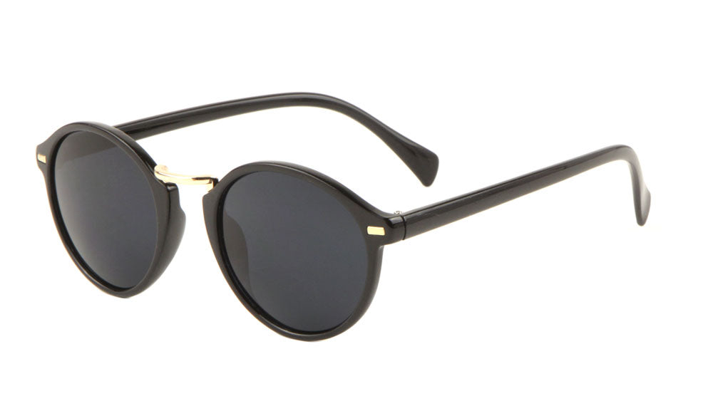 Round Retro Keyhole Sunglasses Wholesale