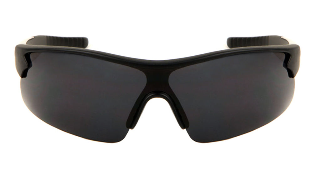 Sports Semi Rimless Shield Sunglasses Wholesale