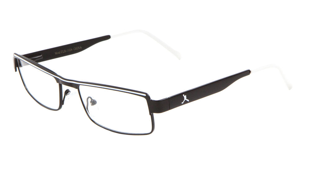 PEACE Rectangle Clear Lens Wholesale Bulk Glasses