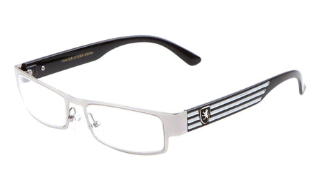 KHAN Rectangle Clear Lens Wholesale Bulk Glasses