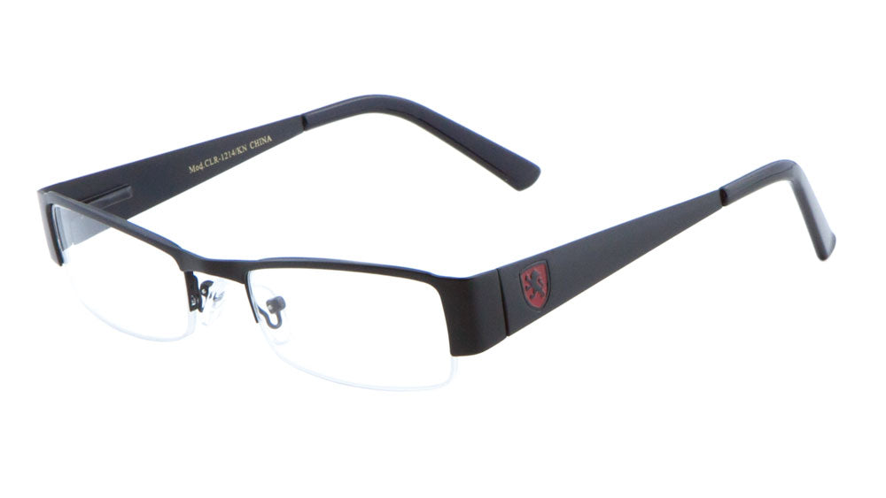 KHAN Semi-Rimless Clear Rectangle Glasses Wholesale