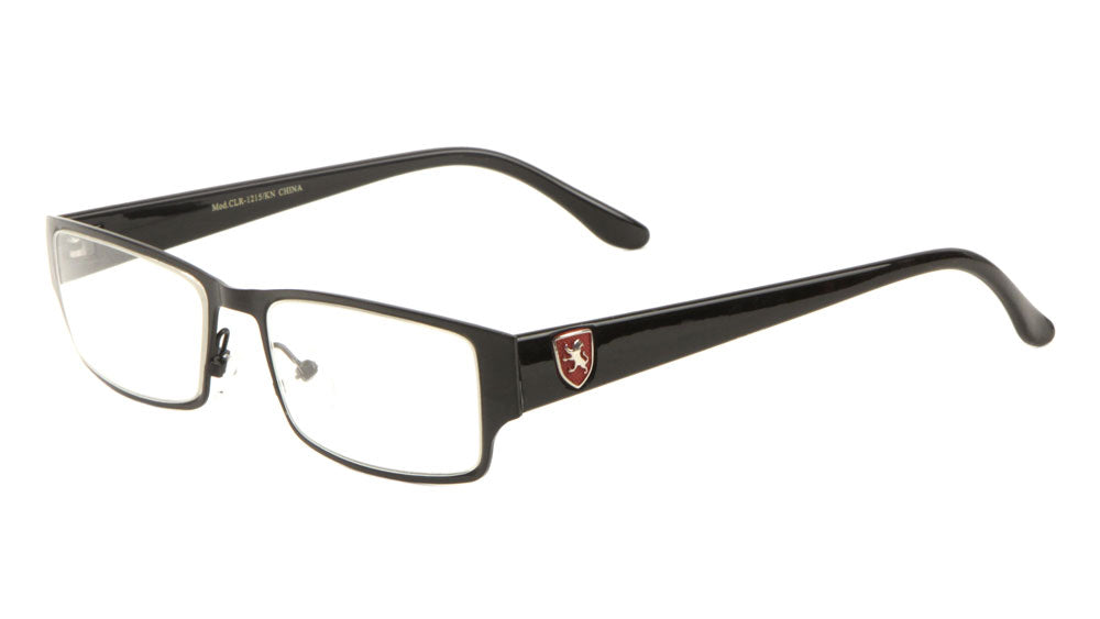 KHAN Metal Frame Rectangle Clear Lens Wholesale Eyewear