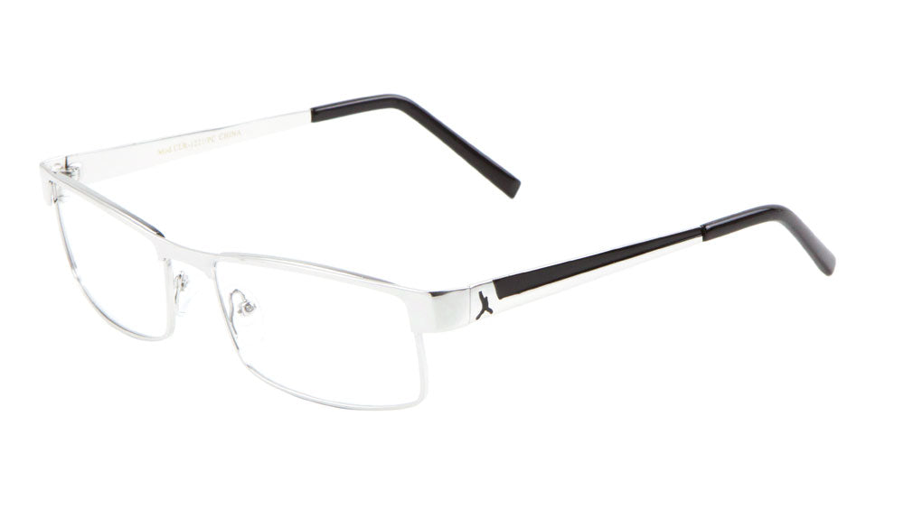 Clear Lens Color Accent Rectangle Glasses Wholesale