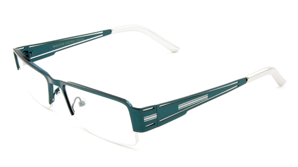 KHAN Rectangle Semi-Rimless Clear Lens Wholesale Glasses