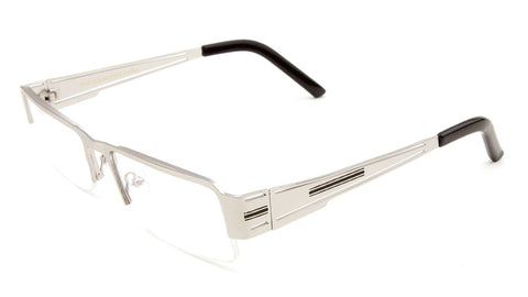 CLR-1222-KN - KHAN Rectangle Semi-Rimless Clear Lens Wholesale Glasses