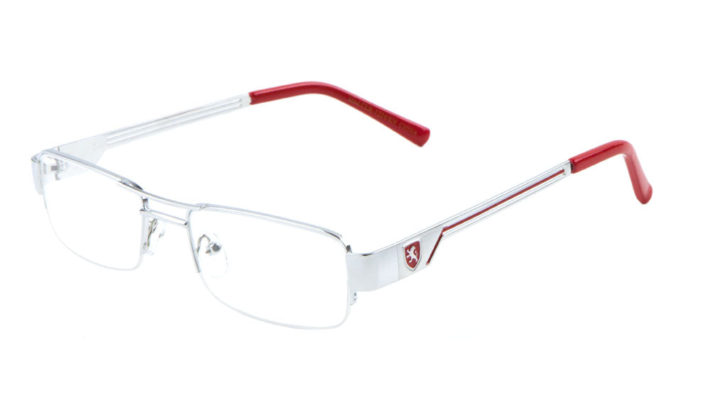 KHAN Semi-Rimless Clear Lens Wholesale Glasses