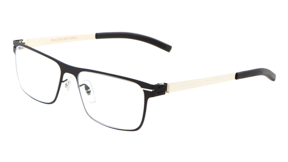 CLR-1486 - Rectangle Clear Lens Wholesale Bulk Glasses
