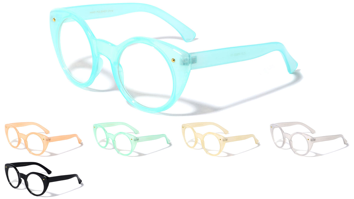 Pastel Cat Eye Clear Lens Wholesale Bulk Glasses