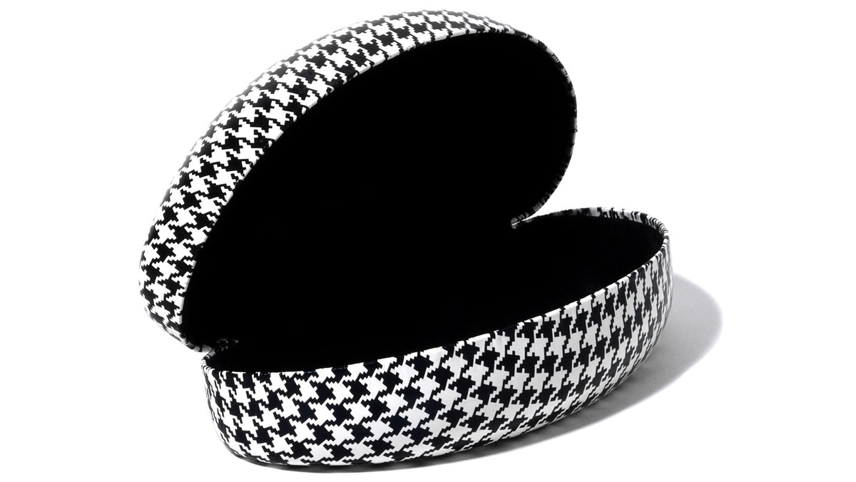 Houndstooth Hard Cover Sunglasses Case