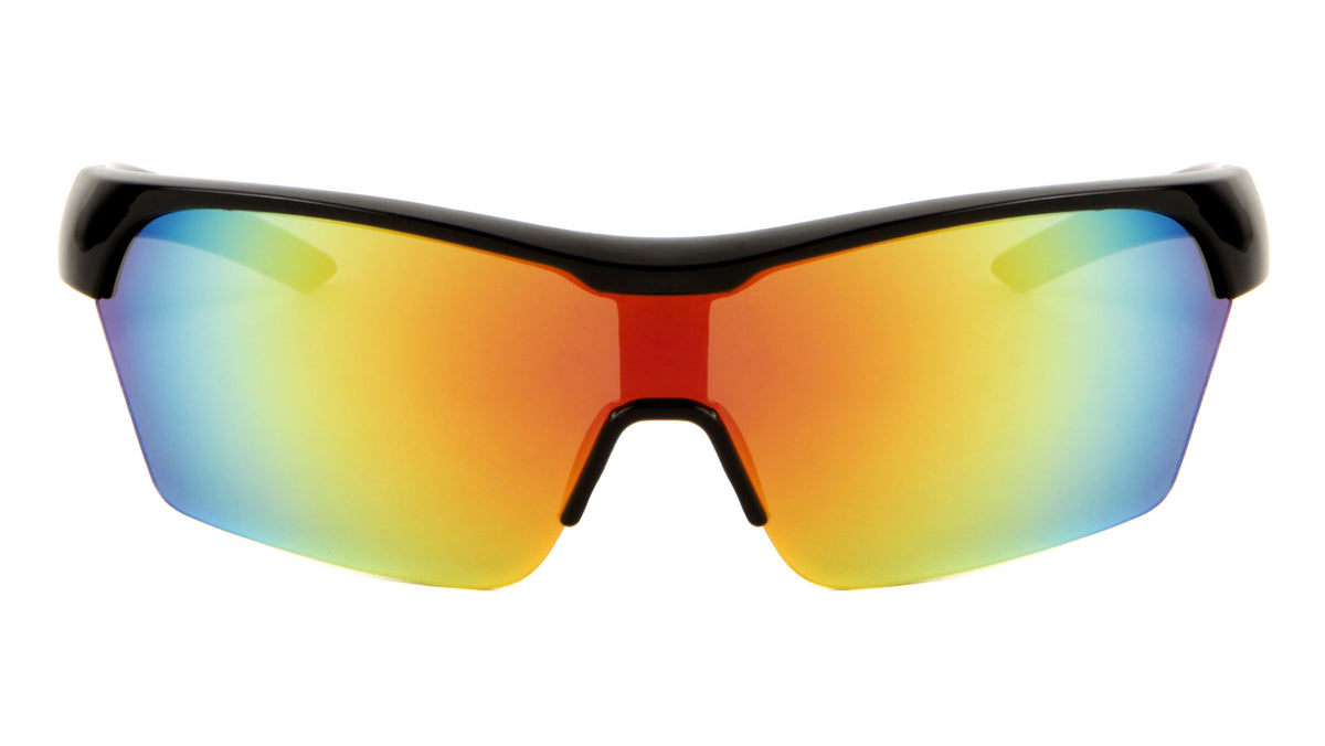 DXTREME Sports Semi-Rimless Shield Sunglasses Wholesale