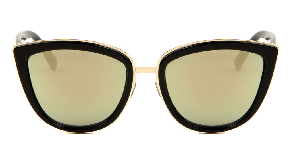 Fashion Cat Eye Rose Gold Lens Wholesale Bulk Sunglasses