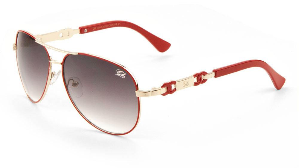 GLO Aviators Chain Temple Sunglasses Wholesale