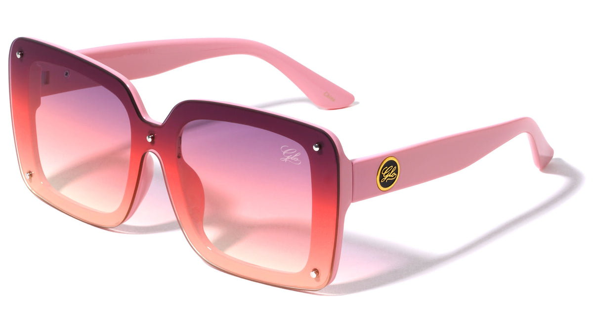 GLO Squared Shield Butterfly Wholesale Sunglasses