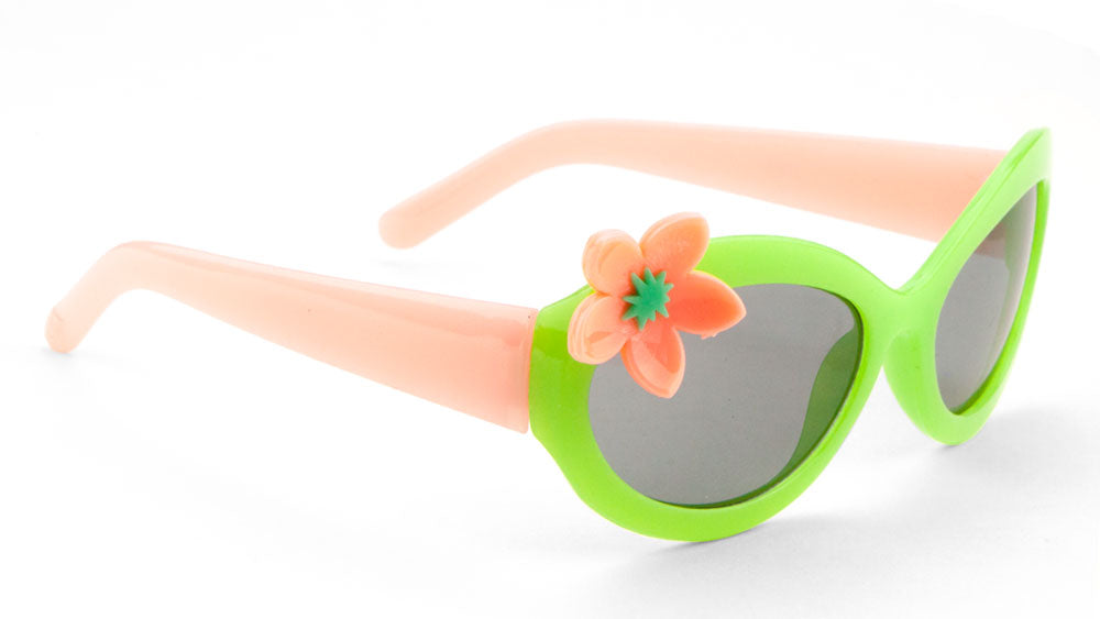 Kids' Oval Flower Wholesale Bulk Sunglasses