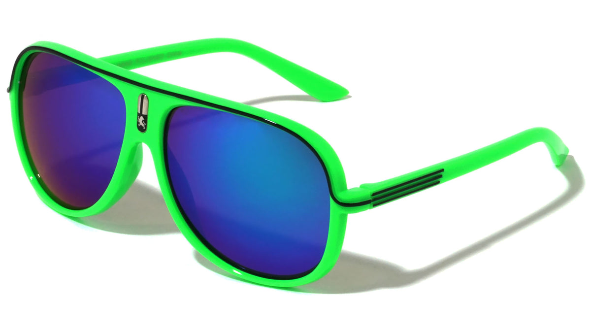 Kids Color Mirror Aviators Sunglasses Wholesale