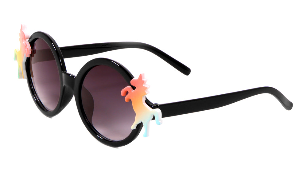 Kids Round Unicorn Sunglasses Wholesale