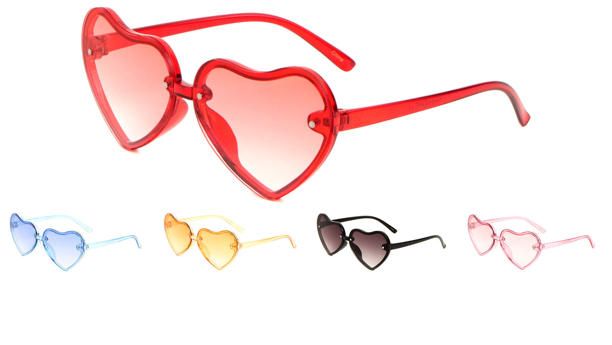Kids Heart Shaped Wholesale Sunglasses