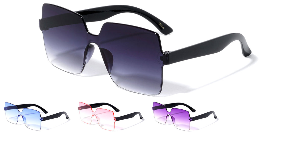 Kids Rimless Butterfly Wholesale Sunglasses