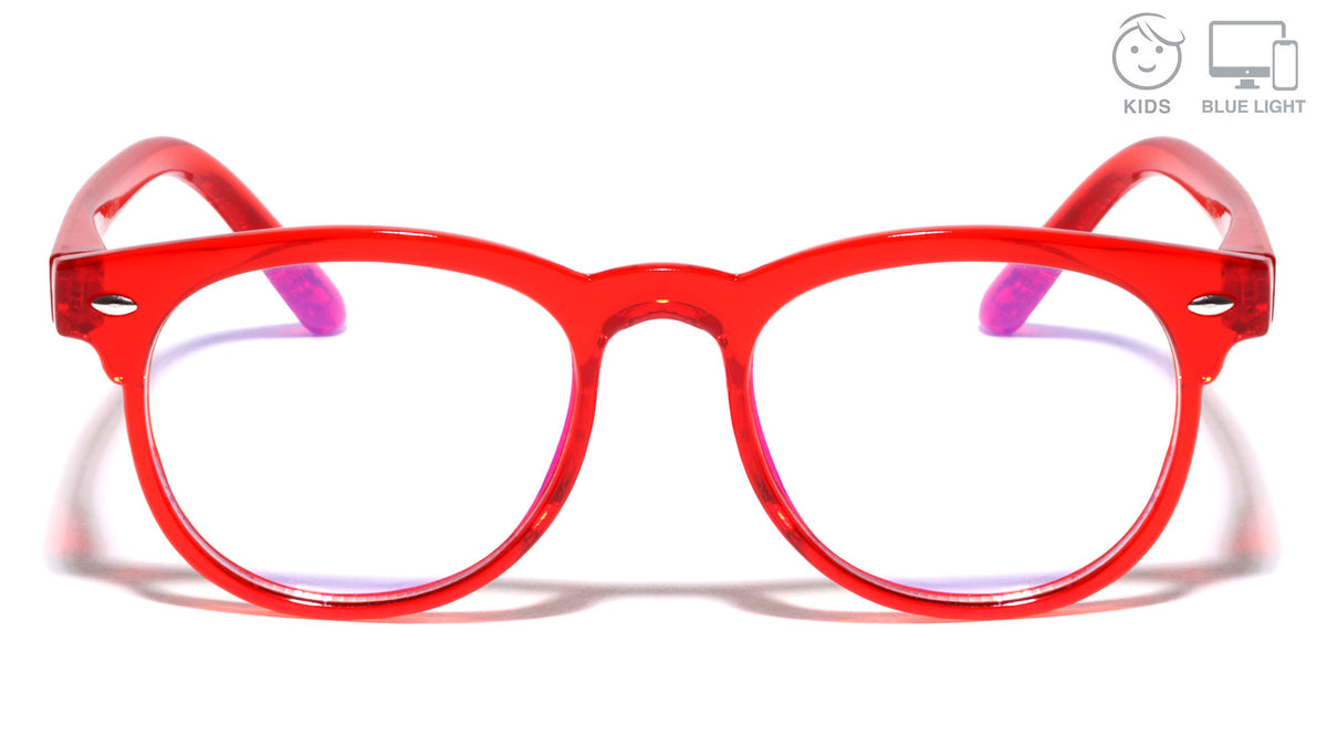Kids Blue Light Blocking Horned Red Wholesale Eyewear
