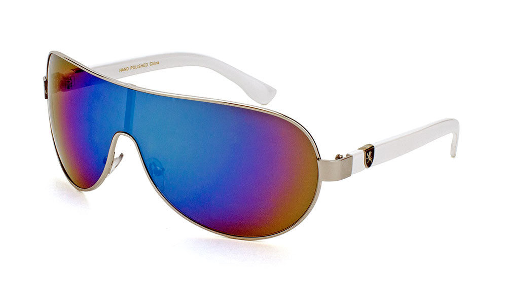 KHAN Solid One Piece Color Mirror Wholesale Sunglasses