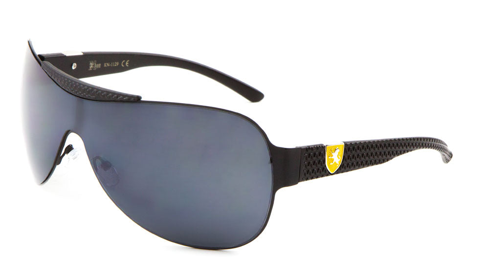 619ca8100fbe KN-1129 KHAN Solid One Piece Shield Wholesale Sunglasses – Frontier ...