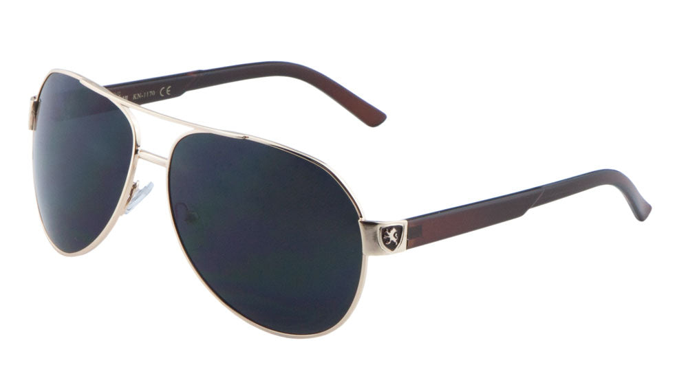 KHAN Round Aviators Sunglasses Wholesale