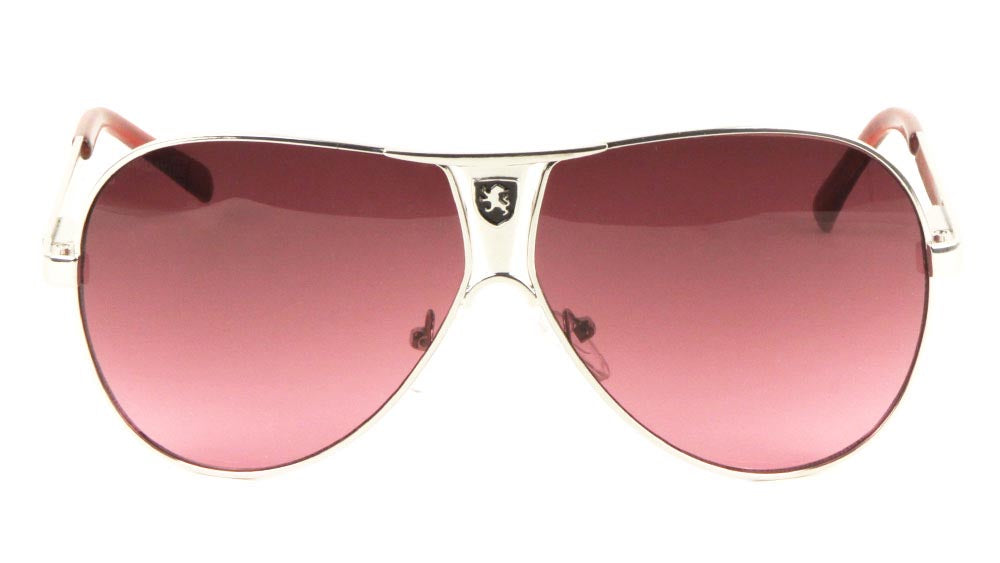 KHAN Triangular Grille Logo Aviators Wholesale Sunglasses