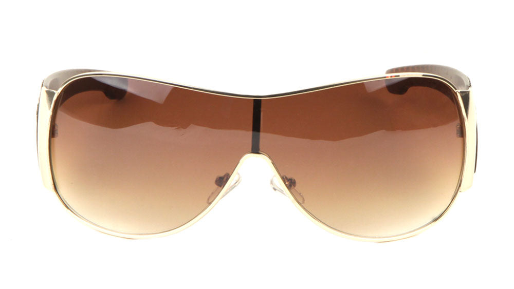 KHAN Solid One Piece Lens Wholesale Bulk Sunglasses