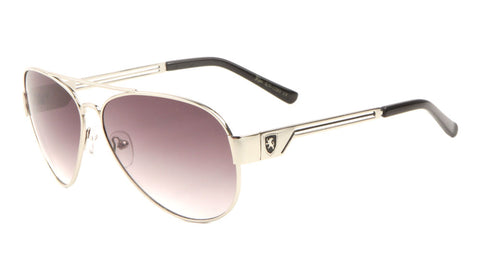 KHAN Aviators 3 Bar Temple Sunglasses Wholesale