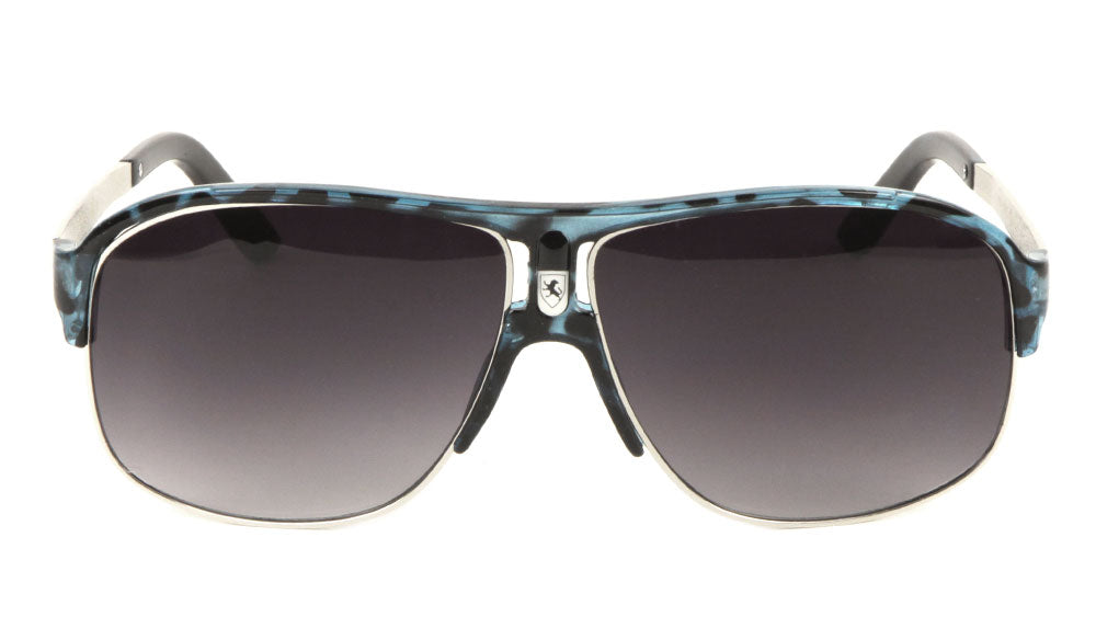 KHAN Fashion Plastic Front Logo Aviators Sunglasses Wholesale