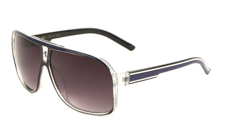 KN-5135 - KHAN Stripe Aviators Wholesale Bulk Sunglasses