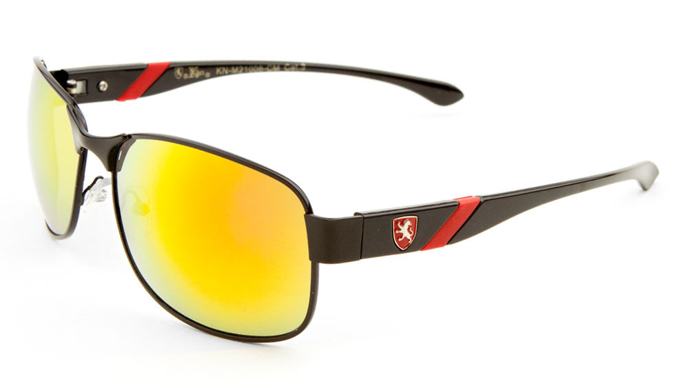 KHAN Color Mirror Sports Sunglasses Wholesale