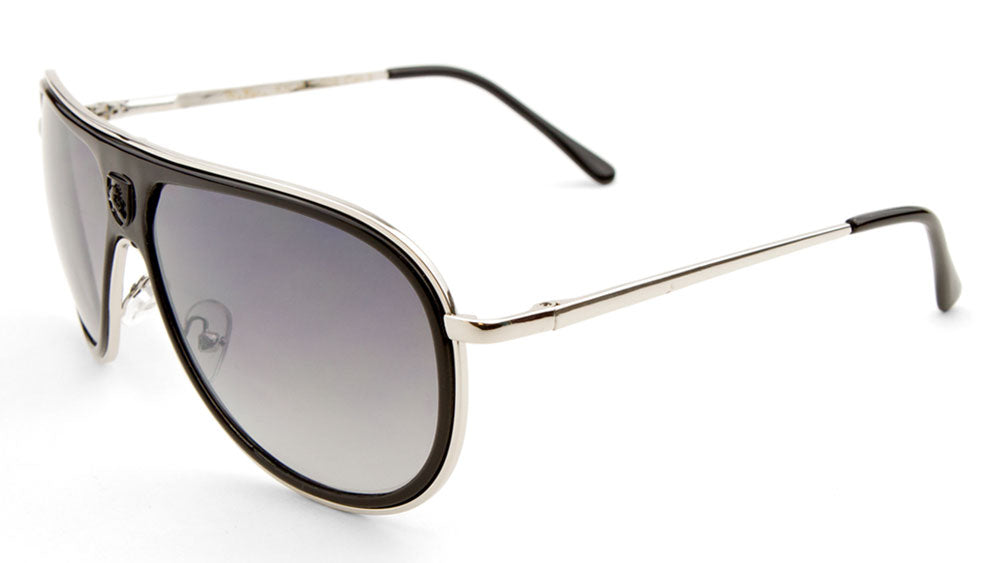 KHAN Full Plate Aviators Spring Hinge Sunglasses