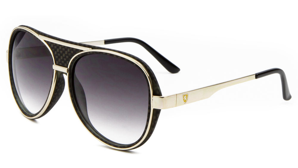 KN-M21015 - KHAN Aviators Wholesale Sunglasses