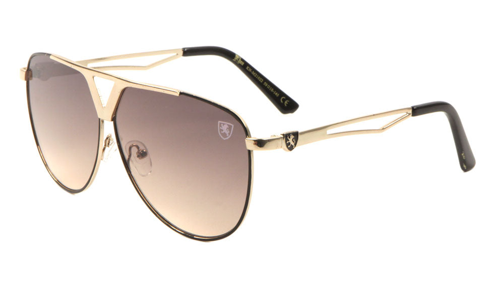 KHAN Aviators Triangle Accent Sunglasses Wholesale