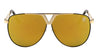 KHAN Color Mirror Metal Triangle Cut Out Aviators Sunglasses Wholesale