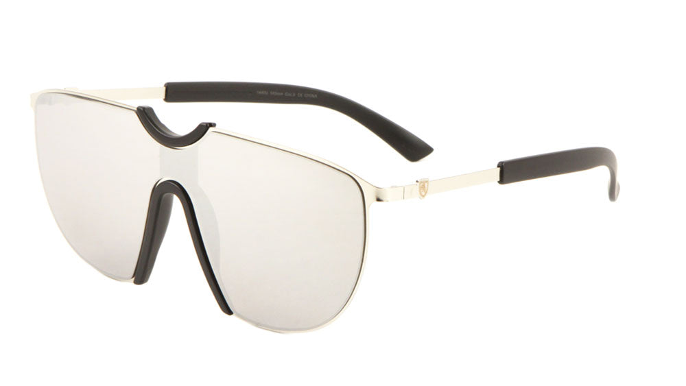 KHAN Solid One Piece Lens Wholesale Sunglasses